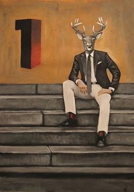 Obraz do salonu artysty Lech Bator pod tytułem Number One