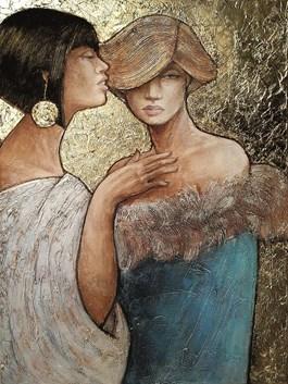 Obraz do salonu artysty Joanna Misztal pod tytułem Szepty