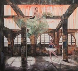Obraz do salonu artysty Janusz Orzechowski pod tytułem Iczemu to takie nic jest właśnie czymś dla mnie