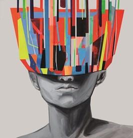 Obraz do salonu artysty Edyta Grzyb pod tytułem Full Head