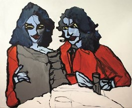 Obraz do salonu artysty Iwona Dombek Rybczyńska pod tytułem Śniadanie