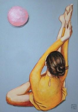 Obraz do salonu artysty Renata Magda pod tytułem Pink ball...