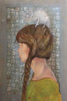 Obraz do salonu artysty Paweł Wąsowicz pod tytułem Kameleon Leon