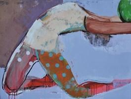 Obraz do salonu artysty Justyna Jabłońska pod tytułem Zabawy zpiłką