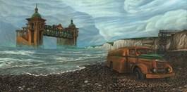 Obraz do salonu artysty Krzysztof Polaczenko pod tytułem Ostatni kurs