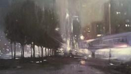Obraz do salonu artysty Rajmund Gałecki pod tytułem Noc na Pańskiej