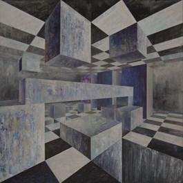 Obraz do salonu artysty Iwona Gabryś pod tytułem Człowiek walczący nr 21