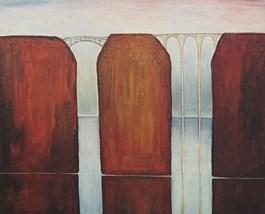 Obraz do salonu artysty Sabina Maria Grzyb pod tytułem Między mostami