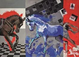 Obraz do salonu artysty Kamila Jarecka pod tytułem Pojedynek