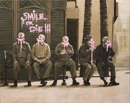 Obraz do salonu artysty Krzysztof Powałka pod tytułem Smile or die