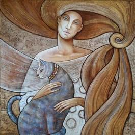 Obraz do salonu artysty Joanna Misztal pod tytułem Lawendowy szylkret