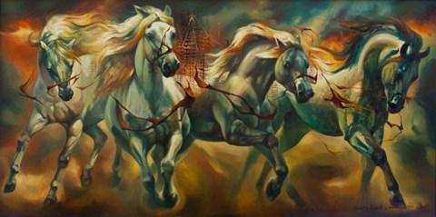 Obraz do salonu artysty Kamila Karst pod tytułem Rydwan czasu