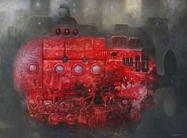 Living room painting by Maciej Wierzbicki titled U-BOOT