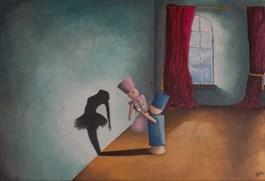 Living room painting by Edyta Mądzelewska titled Dreams come true