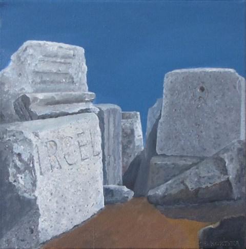 Obraz do salonu artysty Stanisław Kortyka pod tytułem Kamienie rzymskie