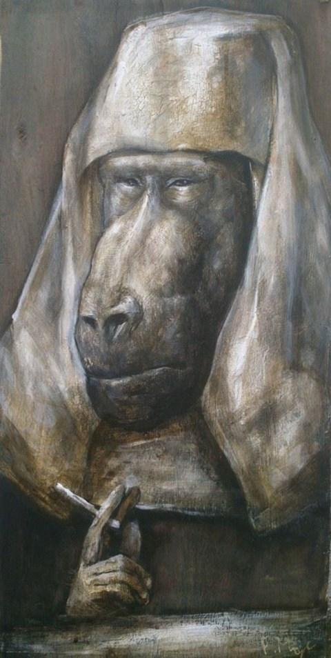 Obraz do salonu artysty Paulina Mager pod tytułem To nie jest fajka