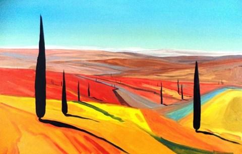 Obraz do salonu artysty Jacek Malinowski pod tytułem Paesaggio Toscano IX