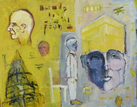 Obraz do salonu artysty Olek Myjak pod tytułem Zcyklu Sytuacje
