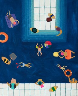 Living room painting by Marek Konatkowski titled Swimming Pool 14