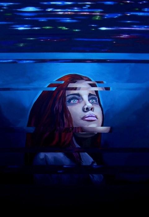 Obraz do salonu artysty Marta Marszałł pod tytułem She paints my eyes red