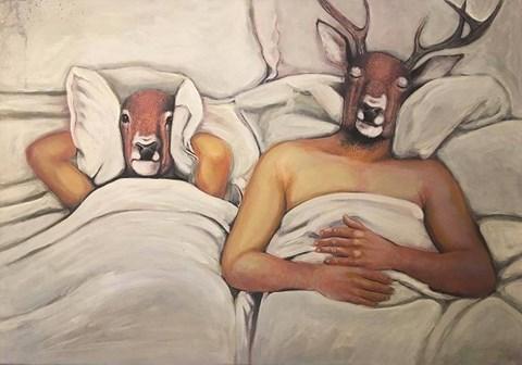 Obraz do salonu artysty Lech Bator pod tytułem W łóżku