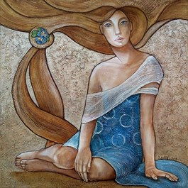 Obraz do salonu artysty Joanna Misztal pod tytułem Prymulka