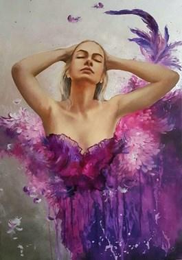 Obraz do salonu artysty Patrycja Kruszynska-Mikulska pod tytułem Rajski ptak