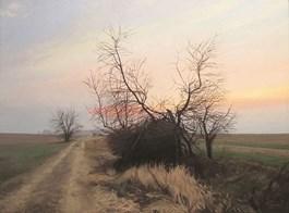 Obraz do salonu artysty Maciej Szynal pod tytułem Późną jesienią