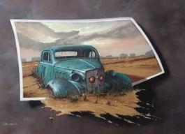 Obraz do salonu artysty Borys Michalik pod tytułem Koniec drogi...