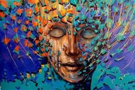 Obraz do salonu artysty Łukasz Jankiewicz pod tytułem Jesteś kolorem
