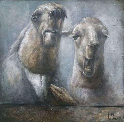 Obraz do salonu artysty Paulina Mager pod tytułem Milczący lama