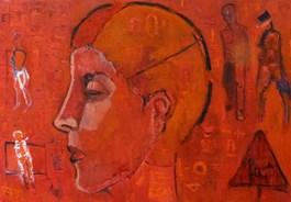 Obraz do salonu artysty Olek Myjak pod tytułem Portret w czerwien