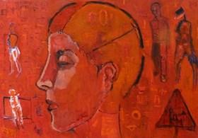 Portret w czerwien