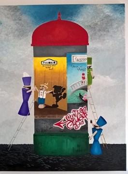 Obraz do salonu artysty Edyta Mądzelewska pod tytułem Sztuka młodych