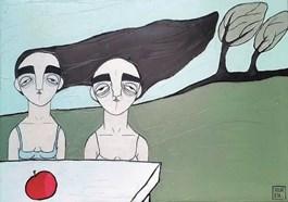 Obraz do salonu artysty Paulina Korbaczyńska pod tytułem Wyczuj serce i delikatnie je ściśnij