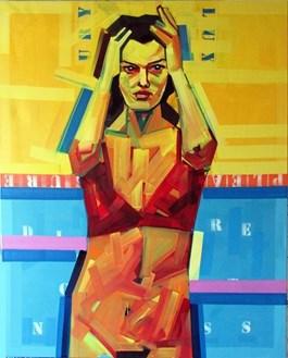Obraz do salonu artysty Piotr Kachny pod tytułem Too much into myself