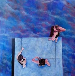 Obraz do salonu artysty Michał Zalewski pod tytułem Na basenie