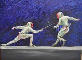 Obraz do salonu artysty Dorota Zych-Charaziak pod tytułem Pojedynek