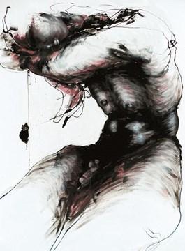 Obraz do salonu artysty Andrzej Domżalski pod tytułem Moja przyjaciółka Mysz