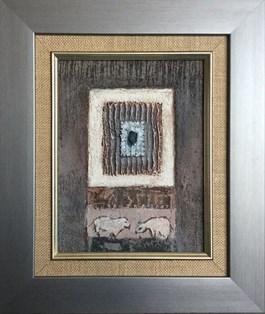 Obraz do salonu artysty Tomasz Lubaszka pod tytułem Niedźwiedź i Nie