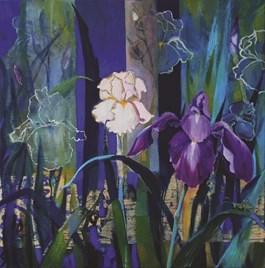 Obraz do salonu artysty Inez White pod tytułem Irysy