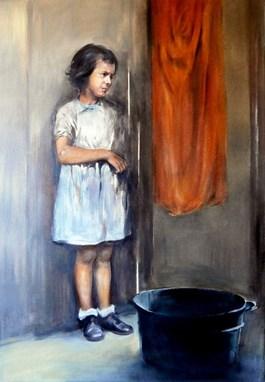 Obraz do salonu artysty Jan Dubrowin pod tytułem Zasmucona