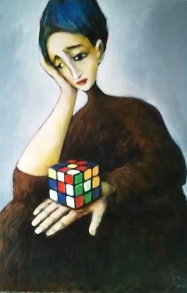 Obraz do salonu artysty Miro Biały pod tytułem Być albo nie