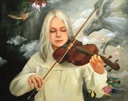 Obraz do salonu artysty Patrycja Kruszynska-Mikulska pod tytułem Magic  symphony