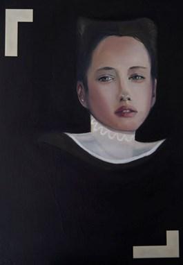 Obraz do salonu artysty Joanna Sikorska pod tytułem Dalida(zcyklu Niegrzeczne infantki)
