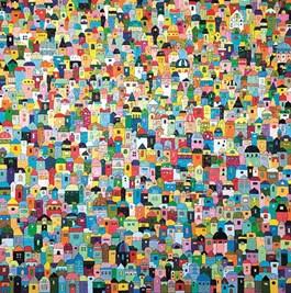 Obraz do salonu artysty Joanna Pilkowska pod tytułem Niepoliczalne domki 317