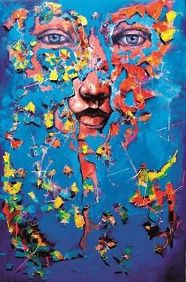 Obraz do salonu artysty Łukasz Jankiewicz pod tytułem Twarze imaski