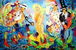 Obraz do salonu artysty Dariusz Grajek pod tytułem Narodziny Wenus