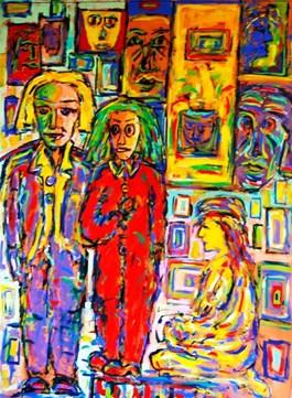 Obraz do salonu artysty Adam Bojara pod tytułem Maski I