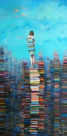 Obraz do salonu artysty Katarzyna Orońska pod tytułem El mundo del libro